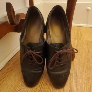 Shoes - Ladies wing tip brown shoes.  8 1/2